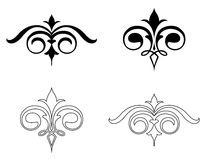Set Elegance Elements. Vector Royalty Free Stock Photos