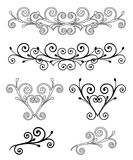 Set Elegance Elements. Vector illustration Royalty Free Stock Photo
