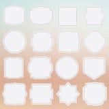 Set of elegance grey framed labels Royalty Free Stock Photos
