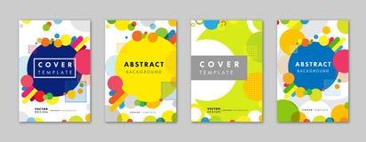 Set elegancki abstrakcjonistyczny geometryczny szablonu tło dla biznesowego broszurki pokrywy projekta Fotografia Stock