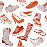 Set elegancki obuwie bezszwowy Fotografia Stock