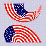 Set eleganckie flaga amerykańskie Obraz Stock
