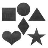 Set 5 eleganckiego wektorowego czarnego grunge geometrycznych kształtów Zdjęcie Stock