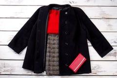 Set eleganckiej zimy odzieżowy pojęcie Obrazy Stock