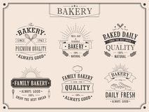 Set of elegant bakery vintage emblems Stock Photography