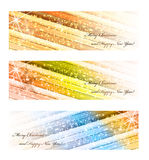 Set of Elegant Christmas banners with stars Stock Image