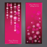 Set of Elegant Christmas banners with stars. Stock Image