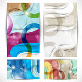 Set of elegant and colorful banners background Stock Photos