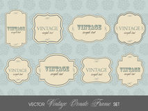 Set of elegant colorful RETRO labels Stock Image