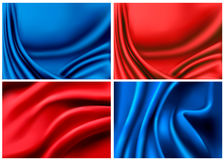 Set of elegant colorful silk backgrounds Royalty Free Stock Photography