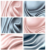 Set of elegant colorful silk texture. royalty free illustration