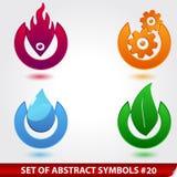 Set of elegant design elements. Vector set of elegant abstract design elements Stock Images
