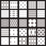 Set of elegant dot patterns. Royalty Free Stock Photography