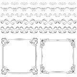 Set of elegant frames and borders Stock Photo