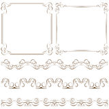 Set of elegant frames and borders Royalty Free Stock Photography
