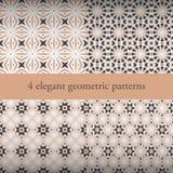 Set of elegant geometric patterns Stock Image