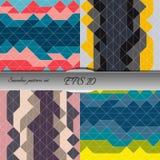 Set of elegant geometric seamless patterns. Nice vector artwork Stock Image