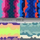 Set of elegant geometric seamless patterns. Nice vector artwork Stock Photography