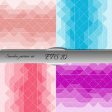 Set of elegant geometric seamless patterns. Nice vector artwork Royalty Free Stock Photo