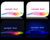 Set of elegant glowing business cards Stock Photography