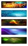 Set of elegant iridescent banners. Stock Images
