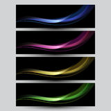Set of elegant iridescent banners. Royalty Free Stock Photography