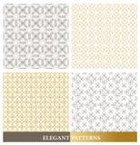 Set of Elegant Islamic or Arabic Seamless Patterns Royalty Free Stock Photography