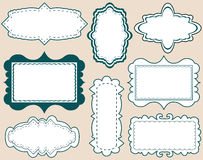 Set of elegant labels Royalty Free Stock Images