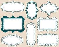 Set of elegant labels Royalty Free Stock Images