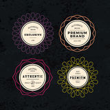 Set of Elegant Labels with Frames Royalty Free Stock Image