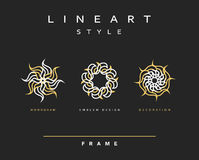 Set of elegant line art design. Monogram design element Stock Images
