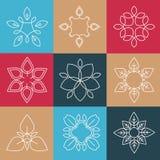 Set of  Elegant lineart logo design elements Stock Photo