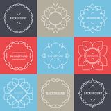 Set of  Elegant lineart logo design elements. Set of simple and graceful monogram design templates, Elegant lineart logo design elements, vector illustration Royalty Free Stock Photography