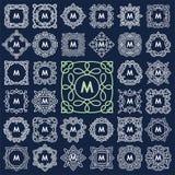 Set of elegant monogram design. Royalty Free Stock Images