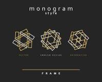 Set of elegant monogram.  Emblem design. Stock Photography