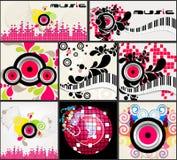 Set of elegant music backgrounds Royalty Free Stock Image