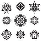 Set of Elegant ornamental flotral signs Stock Images