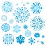 Set of Elegant Ornamental Snowflakes Stock Image
