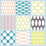 Set of elegant polka dot patterns. Royalty Free Stock Image