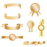 Set of elegant ribbon banner illustration vector Royalty Free Stock Photography