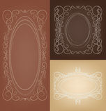 Set of elegant rich  ornate vector frames Royalty Free Stock Images