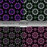 Set of elegant seamless patterns with floral and Mandala element Stock Photography