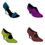 Set of Elegant shoes Royalty Free Stock Photos