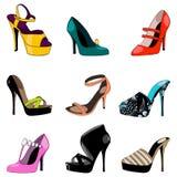 Set of elegant shoes Royalty Free Stock Image