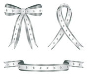 Silver Star Ribbons Royalty Free Stock Photography