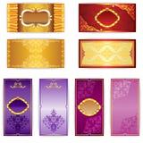 Set of elegant template luxury invitation Stock Photography
