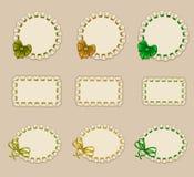 Set of elegant templates frame design Stock Photos