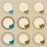 Set of elegant templates frame design Stock Images