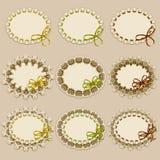 Set of elegant templates frame design Royalty Free Stock Photos
