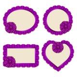 Set of elegant templates frame design Royalty Free Stock Image